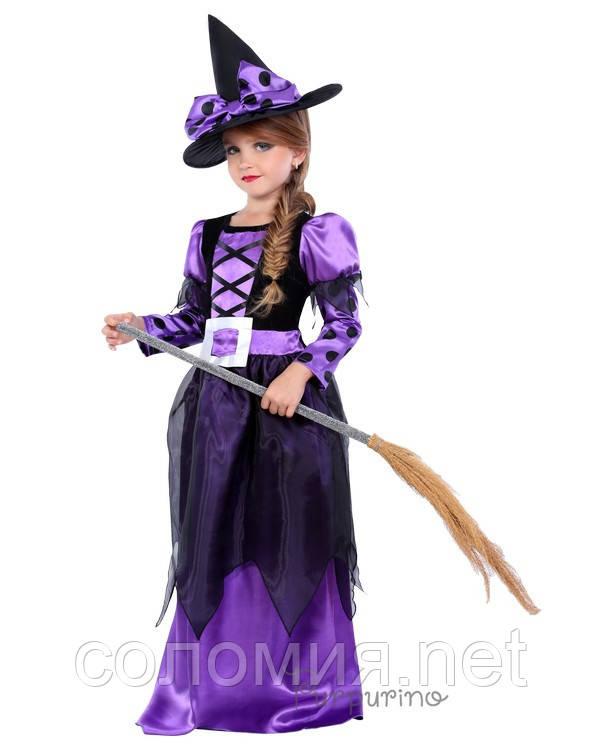 Детский костюм для девочки Ведьмочка 4
