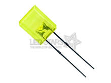 Жовтий світлодіод 5x2mm. FYL-2513 YD 10-15mсd (585nm) прямокутний, дифузний, 120° FORYARD