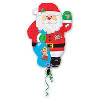 Шар фольгированный Дед Мороз с подарками 60 см