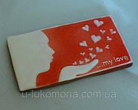 """Пряничная открытка """"Люблю"""""""