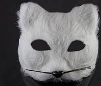 Маска белой Кошки карнавальная