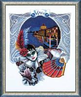 Чарівна мить Венецианская ночь, Карнавал в Венеции Набор для вышивки крестом 268