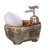 """Набор для ванной комнаты """"Ванночка"""" под дерево"""