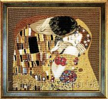 Поцелуй, Климт Набор для вышивки крестом Чарівна мить 411