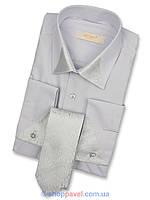 Рубашка мужская серая под запонку Negredo