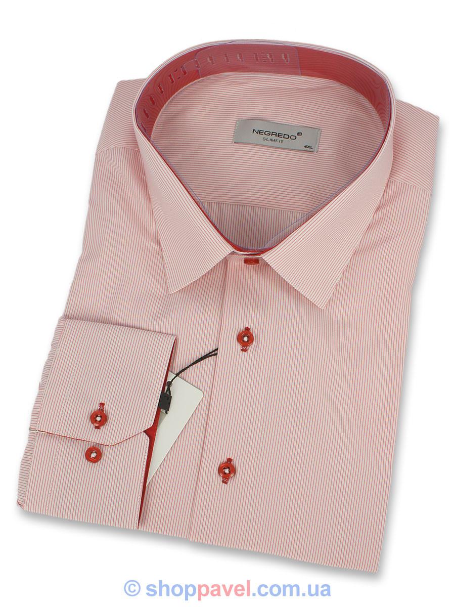 Рубашка комбинированная Negredo 0330 В Slim