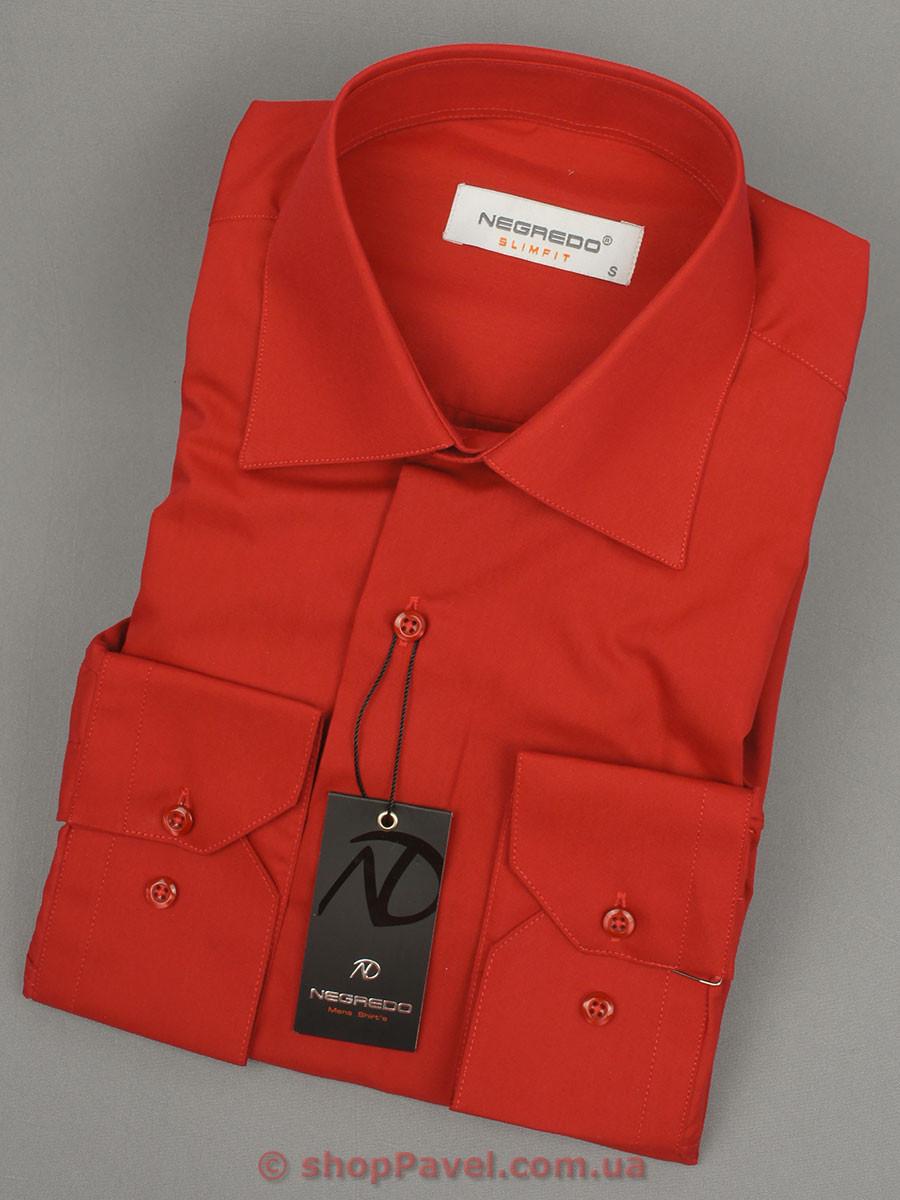Рубашка мужская красная Negredo Slim 26051Slim