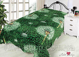 Плед из микрофибры Одуванчики зеленые, 160*210, 200*220, Польша