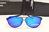 Мужские солнцезащитные очки Porsche Design 8887 синяя линза, фото 1