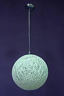 Люстра плетенный шар белый, фото 1