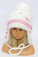 Детская шапка Метелица на меху молоко