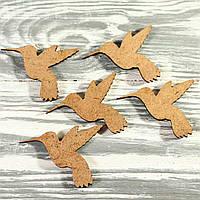 Деревянная заготовка-колибри (60*44*2мм)