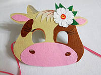 Карнавальная маска Коровы с цветком