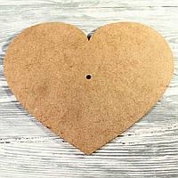 Деревянная заготовка под часы-сердце (3*300*250мм)