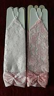 Перчатки гипюр бантик