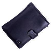 Кожаный мужской кошелек (портмоне) Braun Buffel черного цвета