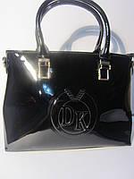 Лаковая сумка  Diary Klava черная