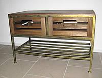 Диван-тумба на 2 ящика и полку кованый, фото 1