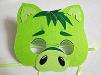 Карнавальная маска Зеленый Поросенок