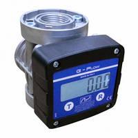 Електронний лічильник G-FLOW для дизельного пального, масла, 5-120 л/хв, +/-0,5%, Італія