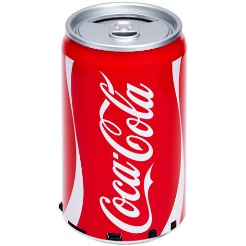 Портативная колонка банка Coca-Cola (FM радио, MP3 плеер)