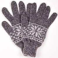 """Шерстяные перчатки мужские """"Снежинка черная"""""""