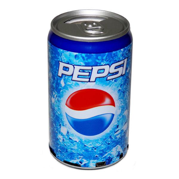 Портативная колонка банка Pepsi (FM радио, MP3 плеер)