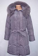 Женская куртка фабричный Китай  зима 2016/2017 фиолетовая большие размеры
