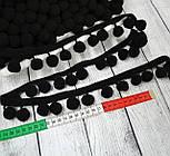 Тесьма с помпонами 20 мм чёрного цвета (Польша), фото 2