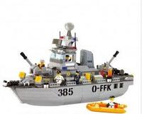 Детский игровой конструктор Sluban 619930/M 38 B 0125 «Военно-морской корабль» (461дет.)
