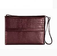 Кожаная мужская сумка Issa Hara B7-1 коричневая шоколад