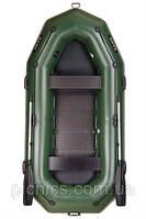 Надувная лодка ПВХ Bark В-300Р Трехместная гребная, привальный брус, 4 ручки, реечный настил, компле
