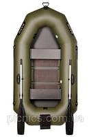 В-230СN BARK надувная лодка ПВХ гребная двухместная реечный настил + навесной транец + увеличенные баллоны