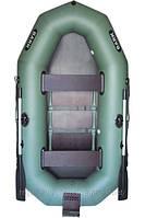 В-260N BARK надувная лодка ПВХ гребная двухместная реечный настил + навесной транец