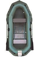В-260NР BARK надувная лодка ПВХ гребная двухместная реечный настил + навесной транец + привальный брус