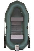 В-280N BARK надувная лодка ПВХ гребная трехместная реечный настил + навесной транец