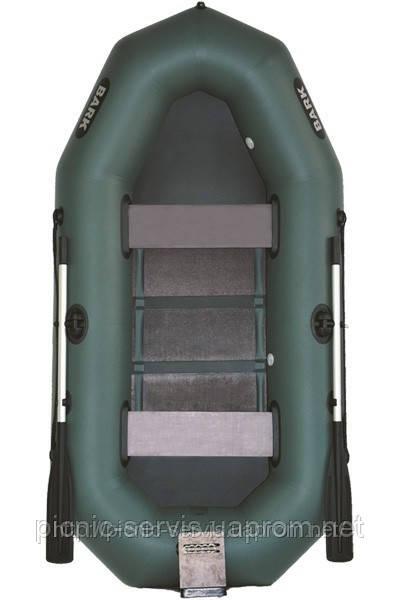 В-280N BARK надувная лодка ПВХ гребная трехместная реечный настил + навесной транец - Пикник-Сервис в Киеве