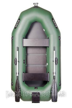 В-250СN BARK надувная лодка ПВХ гребная двухместная реечный настил + навесной транец - Пикник-Сервис в Киеве