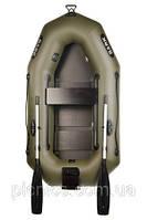 В-210СN BARK лодка надувная ПВХ Барк одноместная гребная реечный настил + транец + увеличенные баллоны