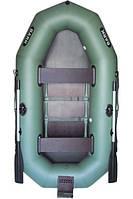 В-270N BARK Надувная лодка ПВХ трехместная гребная, реечный настил + навесной транец