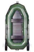 В-270NP BARK Надувная лодка ПВХ трехместная гребная, привальный брус + реечный настил + транец