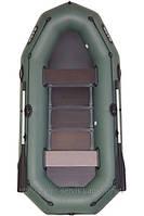 В-280Р BARK надувная лодка ПВХ гребная трехместная реечный настил + привальный брус