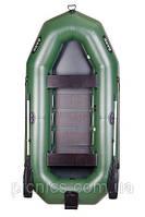 Надувная лодка ПВХ Bark В-300N Трехместная гребная, реечный настил, навесной транец комплект