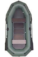В-270Р BARK надувная лодка ПВХ трехместная гребная, привальный брус + реечный настил