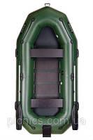 В-300NP BARK Надувная лодка ПВХ трехместная гребная привальный брус+реечный настил+транец