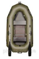 В-230С BARK надувная лодка ПВХ гребная двухместная реечный настил + увеличенные баллоны