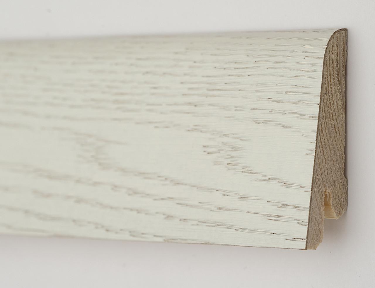 Плинтус деревянный (шпон) Kluchuk Neo Plinth Дуб Арктик 100х19х2200 мм.