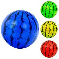 """Мяч детский 466-507 (600) размер 6"""", 30г, 23см, арбуз, 4 цвета"""