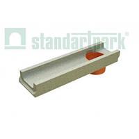 Лоток бетонный  DN100, H60 с отводом