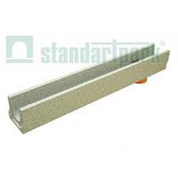 Лоток бетонный  с отводом DN100, H123